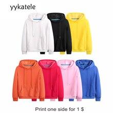 2020 New yykatele hoodies autumn winter plus size long sleeve pocket Pullover Hoodie female male Casual warm Hoodie
