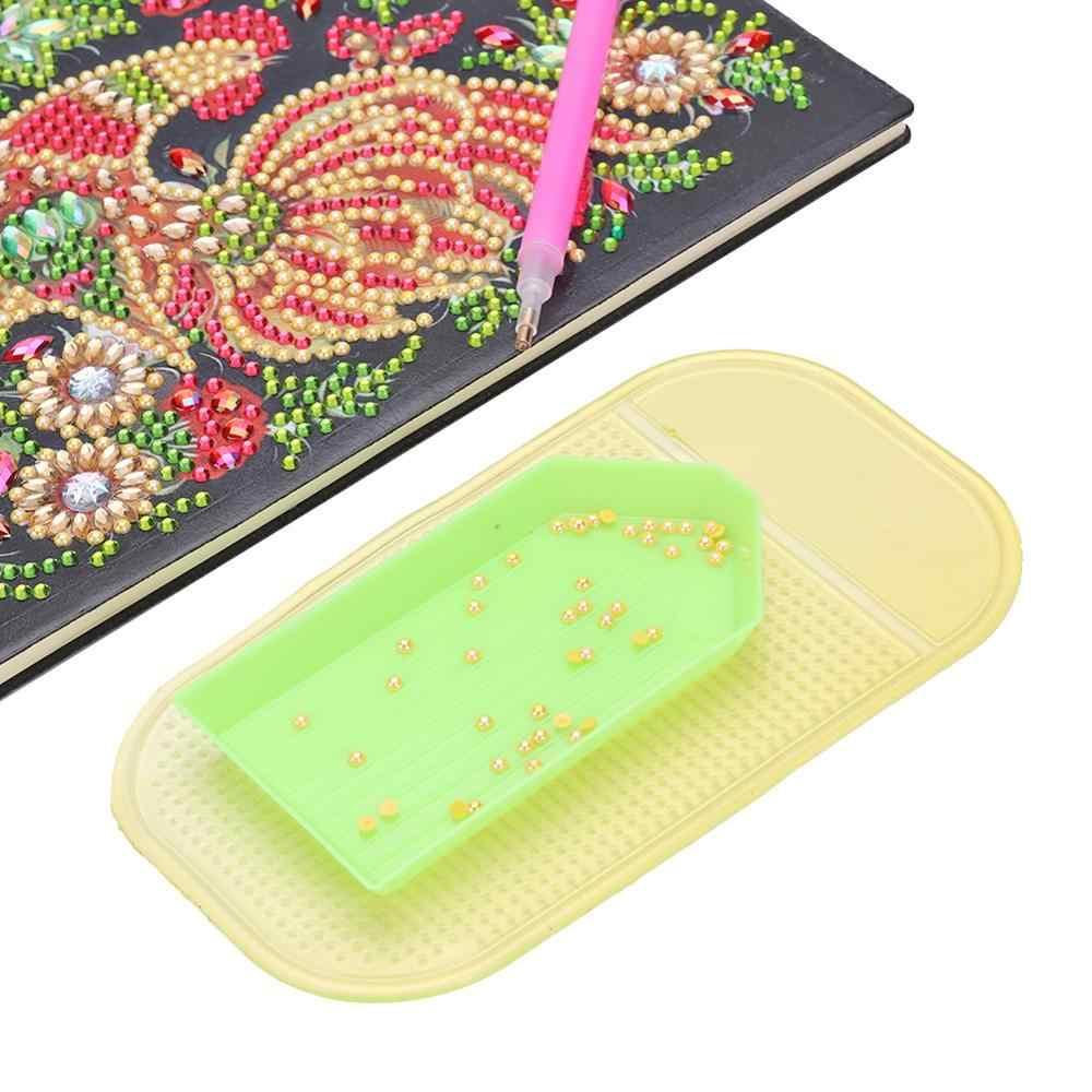 Silikon Titik Bor Tray Pemegang Pad Sticker Anti-Slip Tetap DIY Bordir Tikar untuk 5D Lukisan Berlian Aksesoris