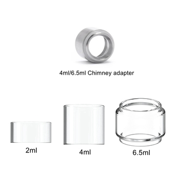 Glass Tube For Eleaf For Ijust 3 Nexgen Ello Duro/TS/Vate Tank Atomizer 6.5/4/2ml Chimney Connector Adapter Pico 25 / Ikonn 100% original eleaf ijust nexgen all in one starter kit 3000mah battery 50w with 2ml tank 4 color leds