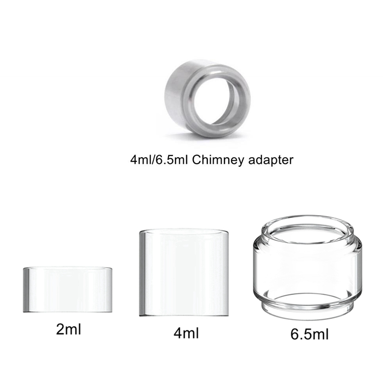 Pyrex Glass Tank For Eleaf Ijust 3  Nexgen Ello Duro TS Vate Tank Atomizer 6.5/4/2ml Chimney Connector Adapter Pico 25 / Ikonn
