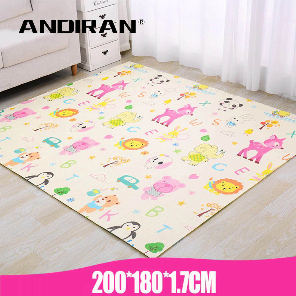 Baby XPE Play Mat Puzzle Crawling Pad Game Blanket Thickness 1.7cm Living Baby Carpet Foam 200*180cm Educational