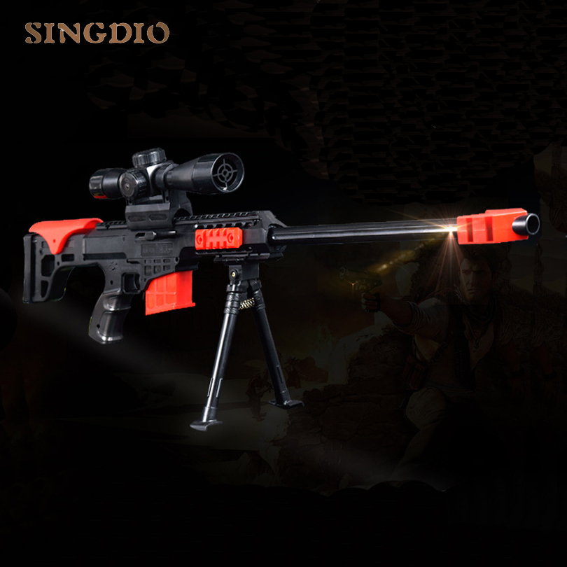 Children Military Model Hot Soft Bullet Games Toy Sniper Paintball Air Shooting Rifle Airsoft Plastic Guns Toy Weapon For Kids