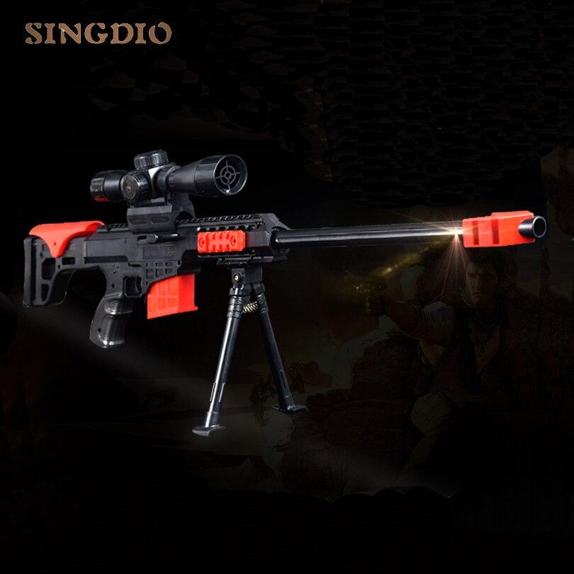 Enfants modèle militaire jeux de balle molle chaude jouet sniper paintball air tir fusil airsoft pistolets en plastique jouet arme pour les enfants