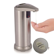 Automatic Soap Dispenser Pump Infrared Sensing Stainless Steel Liquid Soap Holder Shampoo Dispenser Bathroom Liquid Foam Pump
