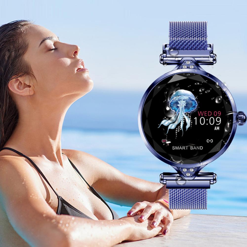 Femmes H1 montre intelligente fréquence cardiaque bande moniteur Fitness Bracelet Sport activité Tracker Smartwatch dame montre intelligente PK B57 Bracelet