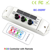 BC-350/BC-350RF DC12V 24V 6A*3CH rotary CV multi function light display LED RGB strip light Controller with wireless Remote