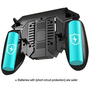 Image 4 - AK77 PUBG Controller Helper Mobile Phone Radiator Six Fingers Linkage Game Button Physical Compression Quick Shooting Handle