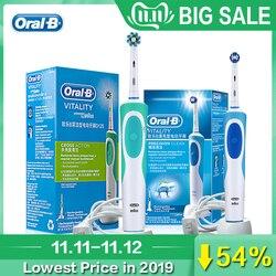 Oral b vitalidade escova de dentes elétrica ou cabeças de escova substituíveis para adulto recarregável escova de dentes elétrica clareamento de dentes