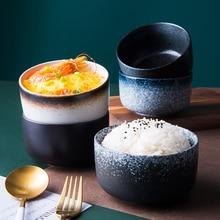 Japanese-style Ceramic Rice Bowl Fruit Salad Soup Noodle Breakfast Porridge Bowl Porcelain Instant Noodles Microwave Tableware salad bowl porcelain plate japanese style home decor tableware ceramic dinner bowls soup noodle rice bowl