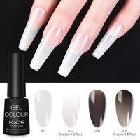 KADS de jalea Gel blanco polaco 7ml negro Semi-transparente empapa esmalte de uñas de Gel UV barniz blanco lechoso DIY Gel barniz LED