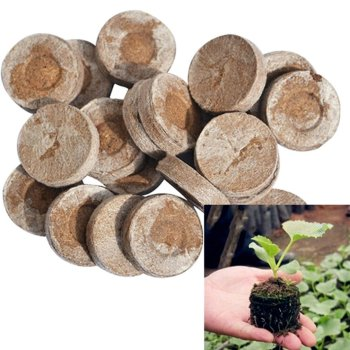3cm Peat Pellet Fiber Soil Plant Seed Fertilizer Nutrient Block Compressed Peat Block Plugs Pallet Seedling Soil Block for Plant image