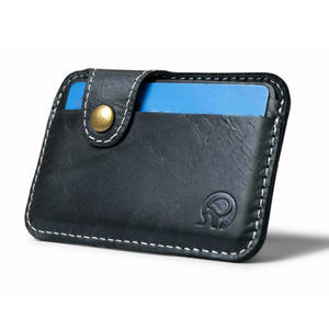 1pcs Retro Leather Card Wallet Men Business Bank Card Holder Thin Credit Card Case Convenient Small Cards Pack Cash Pocket