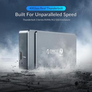 Image 2 - ORICO Thunderbolt 3 M.2 NVME boîtier SSD 40Gbps Support 2 to aluminium avec 40Gbps Thunderbolt 3 C à C câble pour Mac Windows
