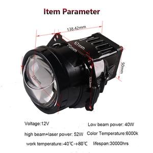 Image 2 - SANVI Car Bi LED&laser Projector Lens headlight 35w 6000K hi low beam Auto LED Projector Headlight Car Motorcycle Light Ppgrade