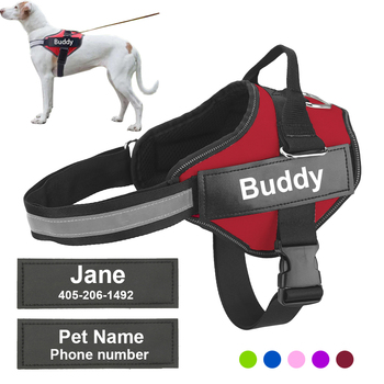 Personalized, Reflective and Adjustable Dog Harness Vest For All Dog Sizes 1