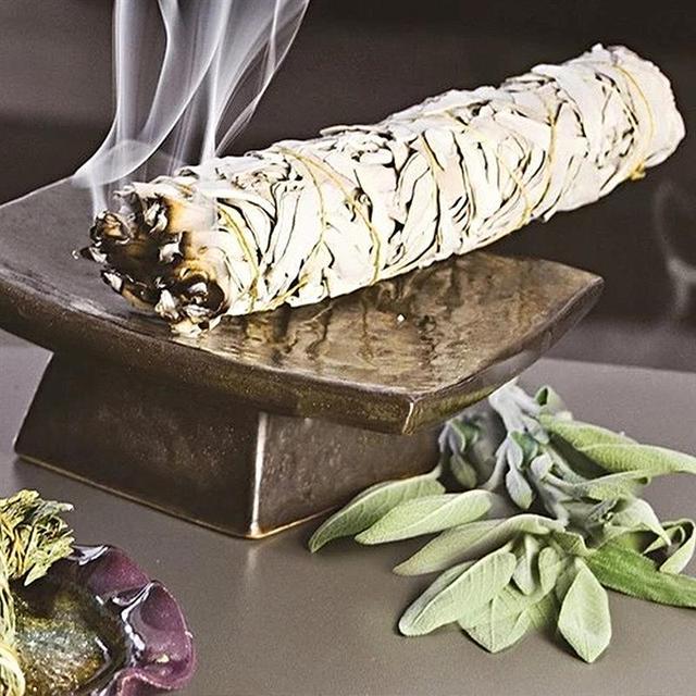 White Sage Pure Leaf Smoky Purification Sage Smoking Indoor Fragrance To Purify The Mind  Room Buddhist Temple Cedar Sticks 2