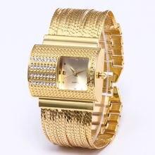 Женские Водонепроницаемые наручные часы с браслетом из нержавеющей