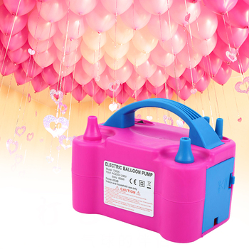 цена на Honhill 600W Electric Balloon Pump Balloon Inflator Portale Dual Nozzle Air Blower Balloon Accessories For Home Party Commercial