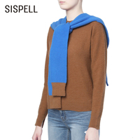 SISPELL Vintage Patchwork Hit Color Women's Sweaters O Neck Long Sleeve Oversized Female Sweater 2019 Autumn Fashion New Clothes