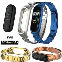 Mi band 3 Stainless steel replacement bracelets for Xiaomi mi band 4 3 Wrist strap Smart watch accessories belt Mi band 4 bands length adjustable strap bracelets for man women watch band style stainless steel net band christian cross prayer male jewelry