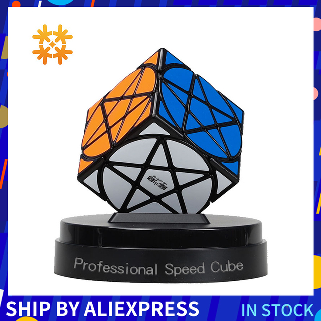Qiyi Mofangge pentagramı küp geometri şekli yıldız küp Stickerless hız küp bulmacalar sihirli küpler oyuncaklar çocuklar için eğlenceli