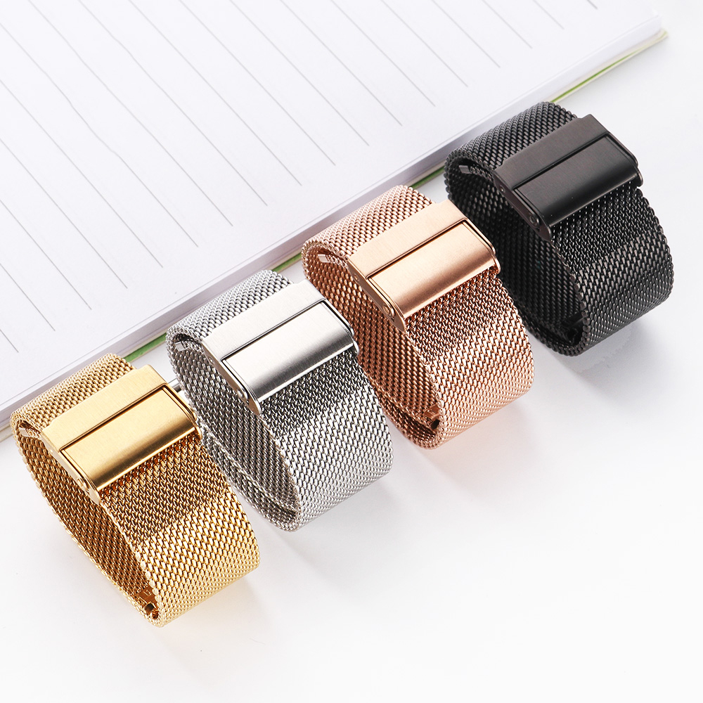 Milanese strap General purpose watch Sport band 18mm 20mm 22mm iwatch pulseira Bracelet Wrist Table accessories