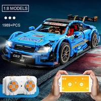 City Champions RC Blue Racing Car MOC 6687 Sports Car Building Blocks Model set Legoness Technic Boy Adult Children Toys Gift