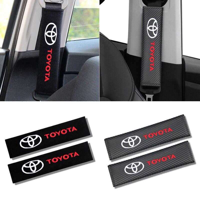 Подходит для Toyota scion avensis auris hilux Corolla Camry RAV4, декоративная накладка на плечо из углеродного волокна для автомобиля, защитный ремешок