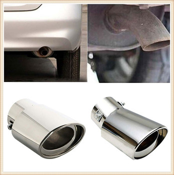 Universal Car Accessories Muffler Tip Round Stainless for BMW all series 5 6 7 X E 545i 530xi M5 M2 X6 image