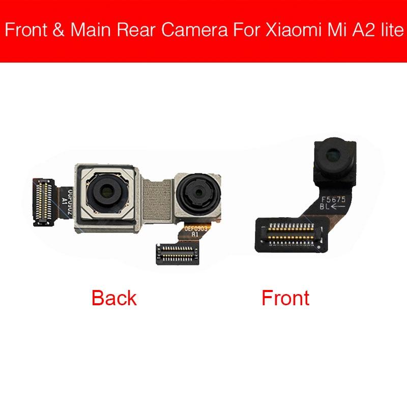 Front & Main Rear Camera For Xiaomi Mi A2 Lite A2Lite / Redmi 6 Pro Front Back Camera Flex Ribbon Cable Replacement Parts