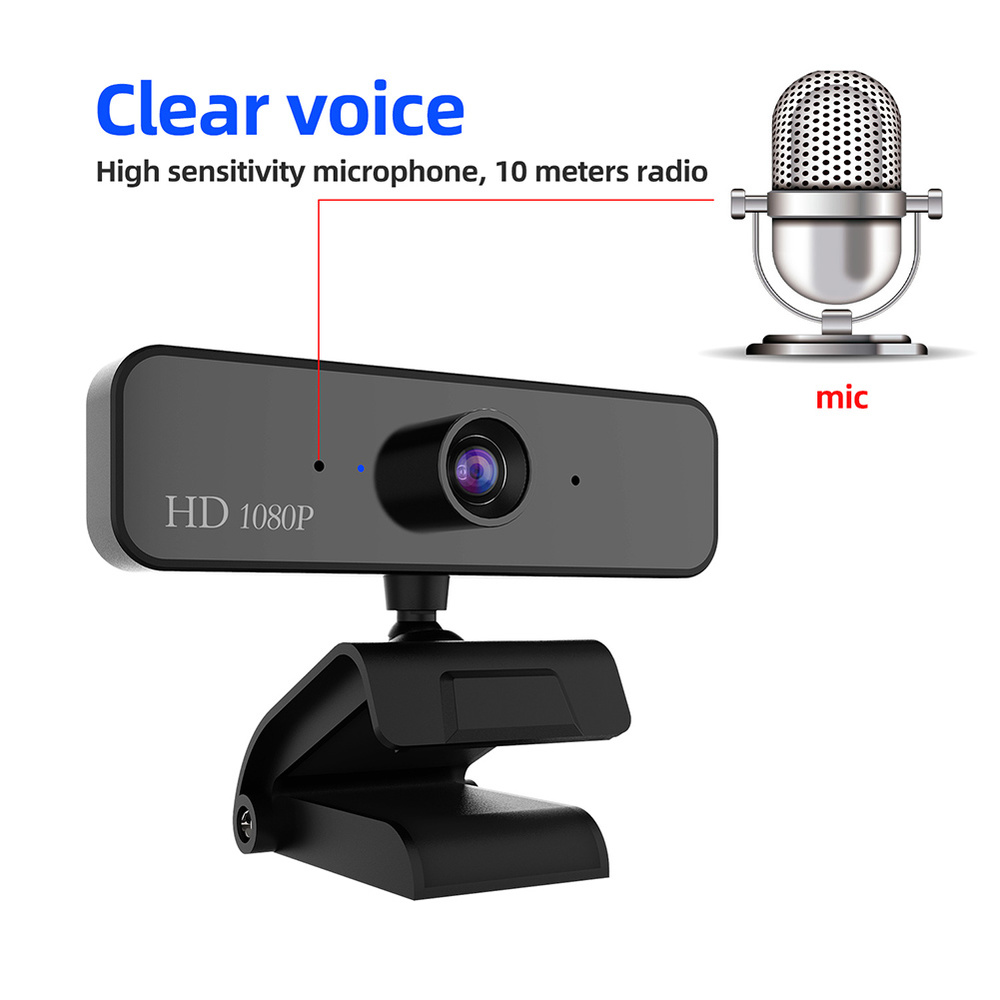480P/720P/1080P USB Webcam for Video Calling/Recording with Auto White Balance/Color Correction 1