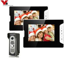 """Yobang אבטחת 7 """"Wired וידאו שיחת בית אינטרקום צבע TFT LCD וידאו דלת טלפון פעמון אבטחה פנימי מעקב מערכת"""