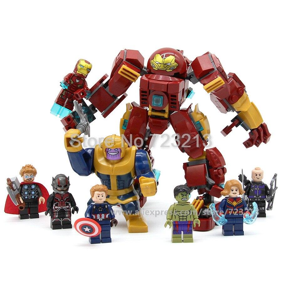 406pcs Bricks 8in1 Super Hero The Avengers Endgame Figure Set Iron Man Thanos Hulk Captain Marvel Building Blocks Toys Legoing