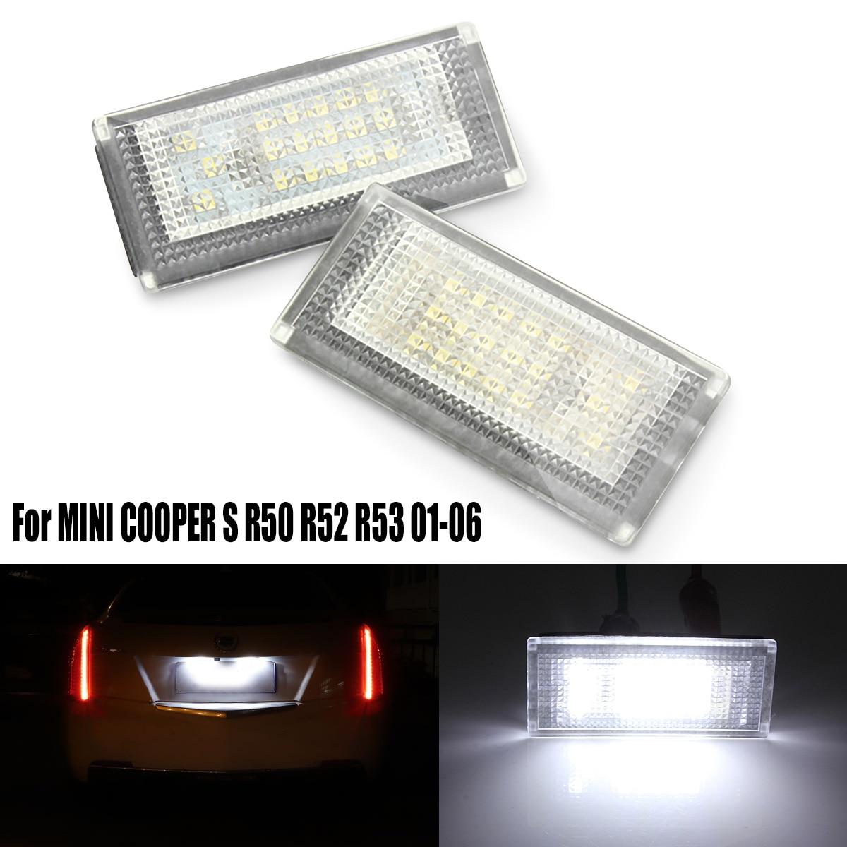 2 PCS Car LED Number License Plate Lights 6000K Plate Light Bulb For BMW//MINI COOPER S R50 R53 Accessories