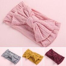 """Повязка на голову с бантиком для младенца эластичная повязка на волосы """"тюрбан"""" платье с бантиками для маленьких девочек повязки, резинки для волос для детей для маленьких девочек s Haarband женские аксессуары для волос"""