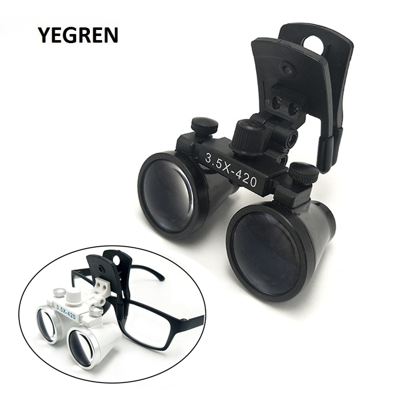 2.5X 3.5X Clip Type Binocular Loupe Pupil Adjustable Dental Loupe Hands Free Magnifying Glass For ENT Examination Dental Surgery