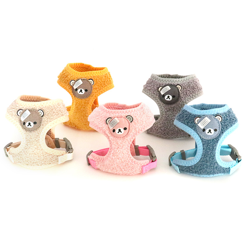 Winter Style Cartoon Bear Velvet Chest And Back Size Dog Clothes Cat Pet Clothes Pet Supplies Chest And Back