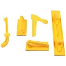 Промо-акция! Деревообрабатывающие инструменты 5 комплектов пластиковых стол пила толкатель блок и палка посылка