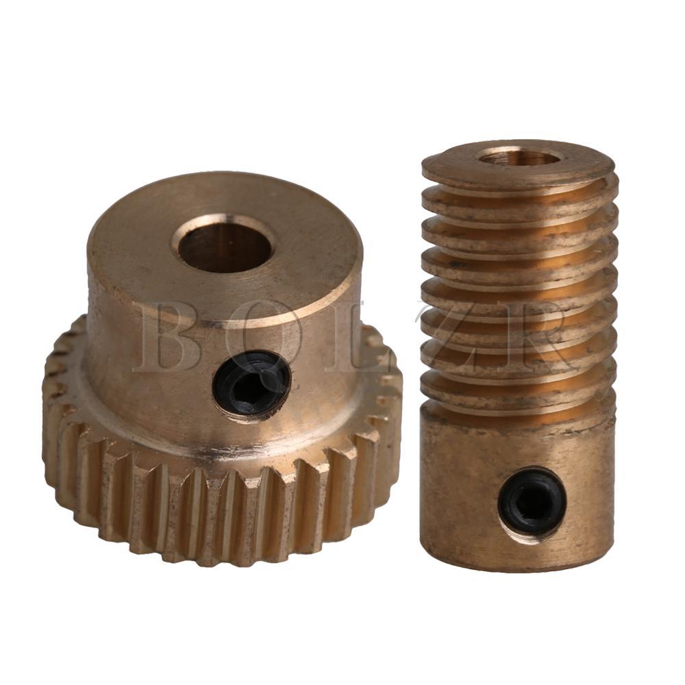 40T 0.5 Modulus 1:40 Brass Worm Wheel/&3.17MM Hole Dia Shaft for Gear Box
