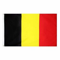 Flaglink 3x5fts 90*150cm preto amarelo vermelho bel be bélgica bandeira