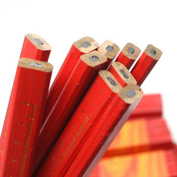 Red Cover Black Lead Cluster Core Flat Mark Pencil Woodworking Construction Crafts Wood DIY Marker Pen 5 Piece Set - discount item  20% OFF Pens, Pencils & Writing Supplies