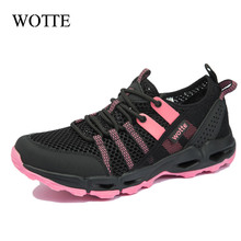Flat-Shoes Outdoor Sneakers Non-Slip Big-Size Casual Women for Unisex 36--44 Breathable