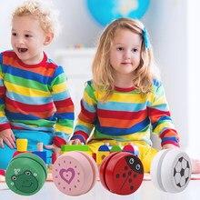 Yoyo – jouets en bois pour enfants, imprimés d'animaux mignons, coccinelle, créatif, cadeaux