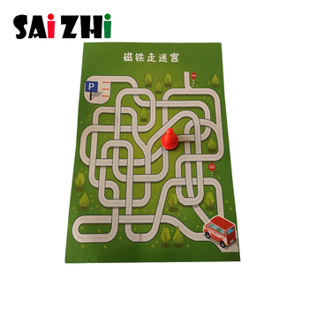 Saizhi 1 Pc/Pack Fasinating Interesting DIY Magnet-Walking-Through-Maze Experiment for Children Physics & Mathematics Education image