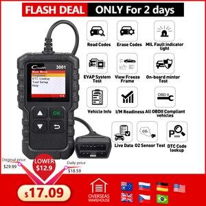 Image 1 - LAUNCH X431 Creader 3001 Full OBDII/EOBD code reader scanner Multilingual CR3001 Car diagnostic tool PK ELM 327 CR319