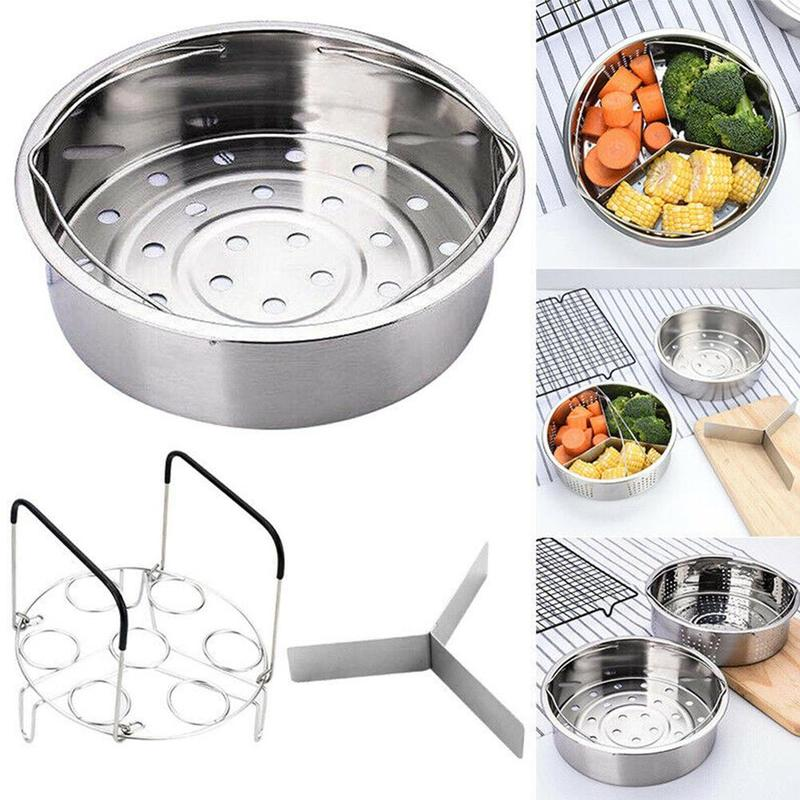 Stainless Steel Instant Steam Pot Pot Pot Egg Steamer Multifunction Kitchen Basket Tools Dinnerware Kitchen Rack Set Accessories