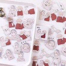 Mohamm amor overture bonito encaixotado kawaii adesivos planejador scrapbooking papelaria japonês diário adesivos