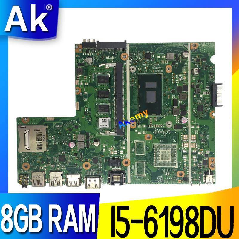 X541UA MB._8G/I5-6198DU/AS 8GB RAM Mainboard REV2.0 For ASUS X541UVK X541UA X541UV Laptop Motherboard 100% Tested Free Shipping