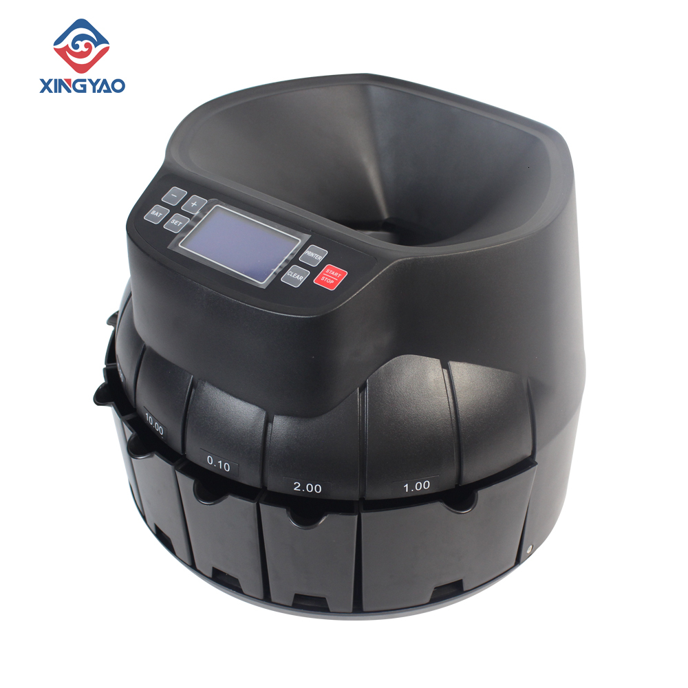 Black/Gray Color High speed accurately 100%  LCD/LED  Kazakhstan/Israel Multi Coin sorter/counting Machine|Money Counter/Detector| |  - title=