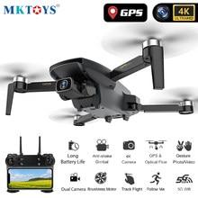 Zangão profissional de mk 4k gps drones com câmera hd motor sem escova siga-me fpv dron dobrável quadrocopter vs sg907 sg108